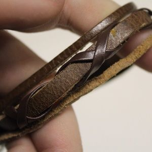 Handmade adjustable leather bracelet